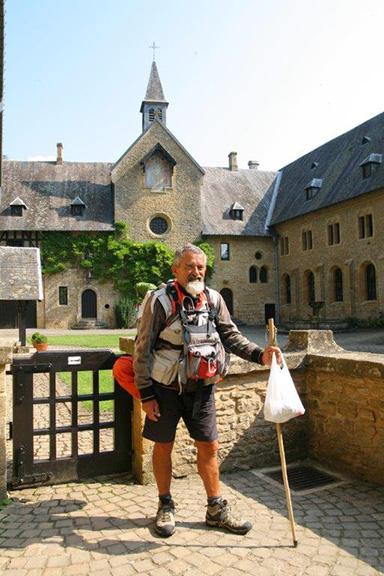 Marc Jamet, a fait le tour de France à pied